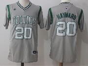 Mens Nba Boston Celtics #20 Gordon Hayward Gray Jersey