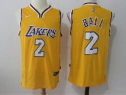 Mens Nba Nike Los Angeles Lakers #2 Lonzo Ball Gold Home Jersey