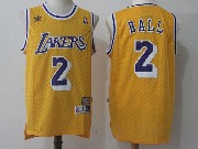 Mens Nba Nike Los Angeles Lakers #2 Lonzo Ball Gold Hardwood Classics Jersey