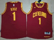Mens Nba Cleveland Cavaliers #1 Derrick Rose Red Road Cleveland Jersey
