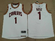 Mens Nba Cleveland Cavaliers #1 Derrick Rose White Home Cleveland Jersey