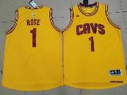 Mens Nba Cleveland Cavaliers #1 Derrick Rose Gold Alternate Cavs Jersey