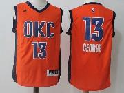 Mens Nba Oklahoma City Thunder #13 George Orange Clima Cool Jersey