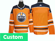 Mens Adidas Nhl Edmonton Oilers Custom Made Orange Jersey