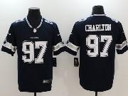 Mens Dallas Cowboys #97 Taco Charlton Blue Vapor Untouchable Limited Jersey