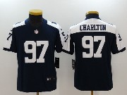 Youth Dallas Cowboys #97 Taco Charlton Blue Thanksgiving Vapor Untouchable Limited Jersey