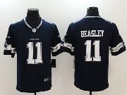 Mens Dallas Cowboys #11 Cole Beasley Blue Vapor Untouchable Limited Jersey