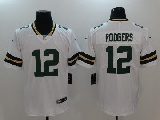 Women Nfl Green Bay Packers #12 Aaron Rodgers White Vapor Untouchable Limited Jersey