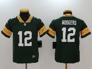 Youth Nfl Green Bay Packers #12 Aaron Rodgers Green Vapor Untouchable Limited Jersey