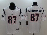 Mens New England Patriots #87 Rob Gronkowski White Vapor Untouchable Limited Jersey