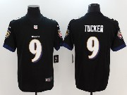 Mens Nfl Baltimore Ravens #9 Justin Tucker Black Vapor Untouchable Limited Jersey