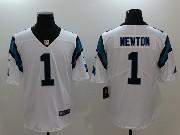 Mens Nfl Carolina Panthers #1 Cam Newton White Vapor Untouchable Limited Jersey