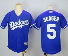 Youth Majestic Mlb Los Angeles Dodgers #5 Corey Seager Blue Jersey