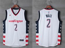 Mens Nba Washington Wizards #2 John Wall White Revolution 30 Mesh Stars And Stripes Jersey