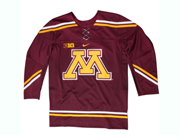Mens Nhl Custom Made University Of Minnesota College Hockey Jersey For Eicher