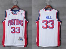 Mens Nba Detroit Pistons #33 Grant Hill White Hardwood Classics Jersey