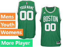 Mens Women Youth Nba Boston Celtics Boston Green Jersey