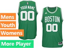Mens Women Youth Nba Boston Celtics Boston Green Jersey
