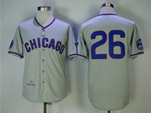 Mens Mlb Chicago Cubs #26 Williams Blue Gray 1968 Throwbacks Jersey