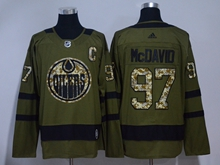 Mens Adidas Nhl Edmonton Oilers #97 Connor Mcdavid Green Hockey Jersey