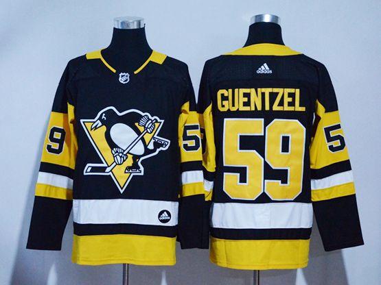 Mens Adidas Nhl Pittsburgh Penguins #59 Jake Guentzel Black Hockey Jersey