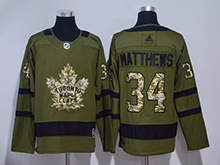 Mens Adidas Nhl Toronto Maple Leafs #34 Auston Matthews Green Hockey Jersey