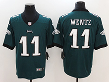 Mens Nfl Philadelphia Eagles #11 Carson Wentz Green Vapor Untouchable Limited Jersey
