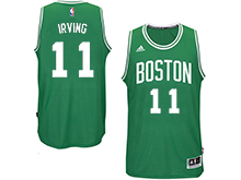 Mens Nba Boston Celtics #11 Kyrie Irving Green Road Swingman Jersey