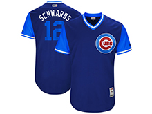 Mens Mlb Chicago Cubs #12 Kyle Schwarber ( Schwarbs) Majestic Royal 2017 Players Weekend Authentic Jersey