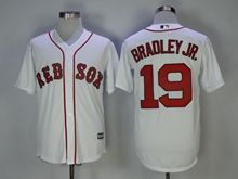 Mens Mlb Boston Red Sox #19 Jackie Bradley Jr. White Cool Base Jersey