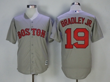 Mens Mlb Boston Red Sox #19 Jackie Bradley Jr. Gray Cool Base Jersey