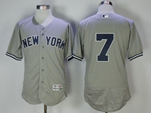Mens Mlb New York Yankees #7 Mickey Mantle Gray Flex Base Jersey