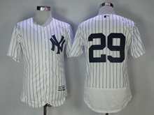 Mens Mlb New York Yankees #29 Todd Frazier White Stripe Flex Base Jersey