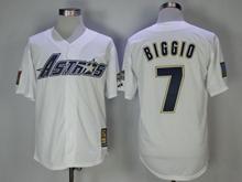 Mens Mlb Houston Astros #7 Craig Biggio White 1981 Throwback Jersey