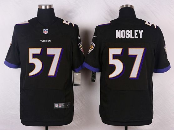 Mens Nfl Baltimore Ravens #57 C. J Mosley Black Elite Jersey