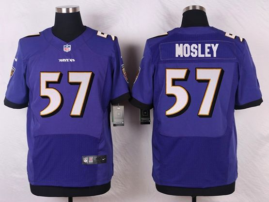 Mens Nfl Baltimore Ravens #57 C. J Mosley Purple Elite Jersey