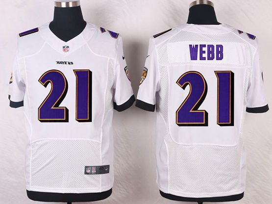 Mens Nfl Baltimore Ravens #21 Lardarius Webb White Elite Jersey