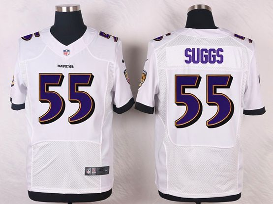 Mens Nfl Baltimore Ravens #55 Terrell Suggs White Elite Jersey