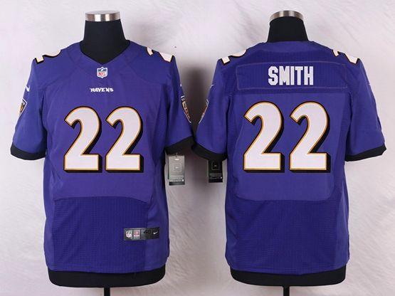 Mens Nfl Baltimore Ravens #22 Jimmy Smith Purple Elite Jersey