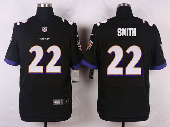 Mens Nfl Baltimore Ravens #22 Jimmy Smith Black Elite Jersey