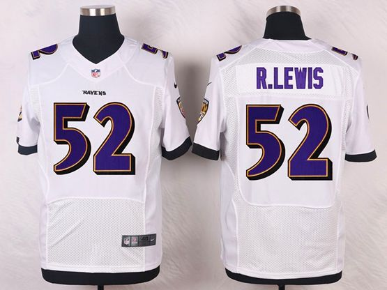 Mens Nfl Baltimore Ravens #52 R.lewis White Elite Jersey