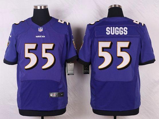 Mens Nfl Baltimore Ravens #52 R.lewis Purple Elite Jersey