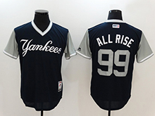 Mens Mlb New York Yankees #99 Aaron Judge ( All Rise) Majestic Navy 2017 Players Weekend Authentic Jersey