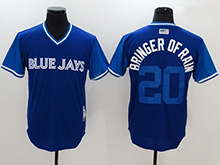 Mens Mlb Toronto Blue Jays #20 Josh Donaldson ( Bringer Of Rain) Majestic Royal 2017 Players Weekend Authentic Jersey