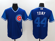 Mens Mlb Chicago Cubs #44 Anthony Rizzo ( Tony) Majestic Navy 2017 Players Weekend Authentic Jersey