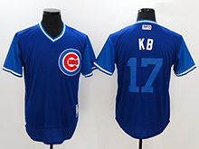 Mens Mlb Chicago Cubs #17 Kris Bryant ( Kb) Majestic Navy 2017 Players Weekend Authentic Jersey