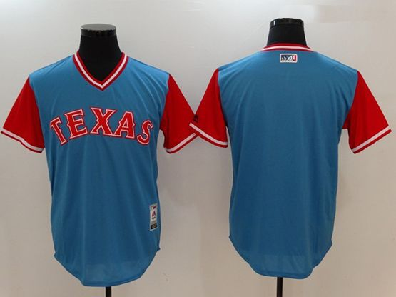 Mens Mlb Texas Rangers Majestic ( Blank) Light Blue 2017 Players Weekend Authentic Team Jersey
