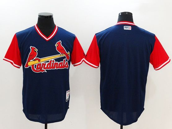 Mens Mlb St. Louis Cardinals ( Blank) Majestic Navy 2017 Players Weekend Authentic Jersey