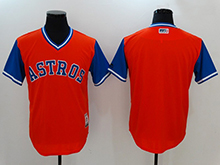 Mens Mlb Houston Astros ( Blank) Majestic Orange 2017 Players Weekend Authentic Jersey