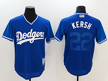Mens Mlb Los Angeles Dodgers #22 Clayton Kershaw ( Kersh) Majestic Navy 2017 Players Weekend Authentic Jersey